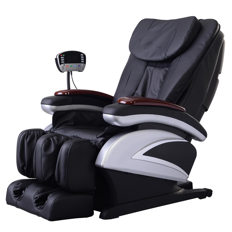 Electric full body shiatsu massage chair recliner w heat for Full body shiatsu massage mat