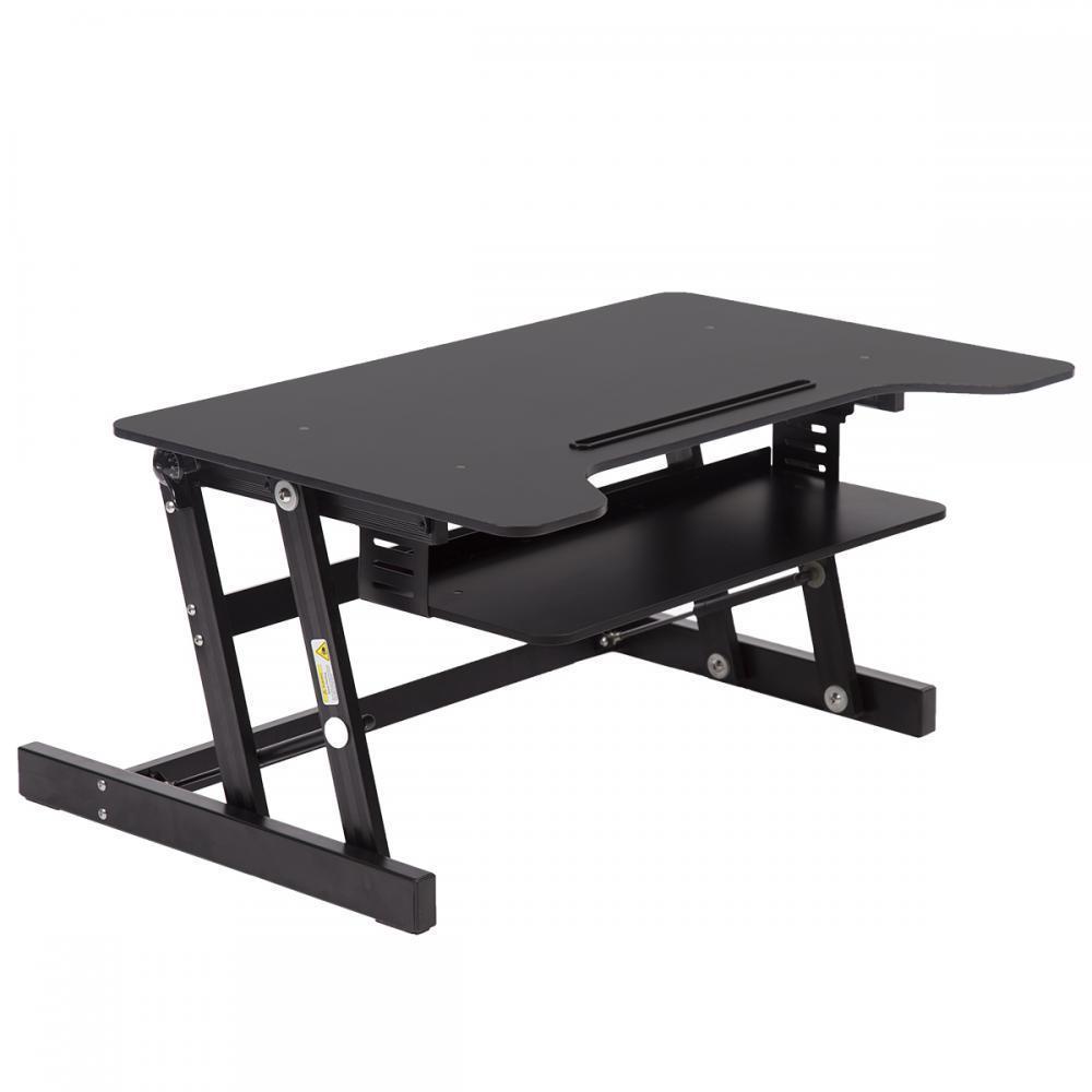 Black Desktop Standing Desk Adjustable Height Sit Stand