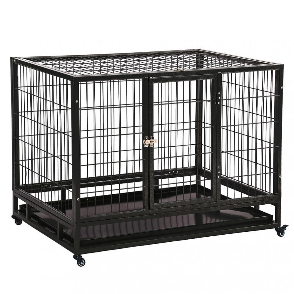 New 42 Quot Commercial Quality Heavy Duty Pet Dog Cage Crate
